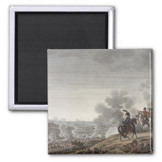 The Battle of the Moskva, 7 September 1812, engrav Square Magnet