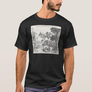 The Battle of the Pictures by William Hogarth T-Shirt