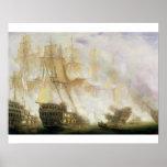 The Battle of Trafalgar, c.1841 (oil on canvas) Poster