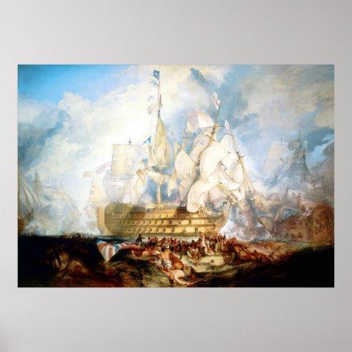 The Battle of Trafalgar ~ Vintage Fine Art Canvas Posters