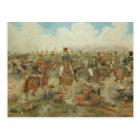 The Battle of Waterloo, June 18th 1815 (w/c on pap Postcard
