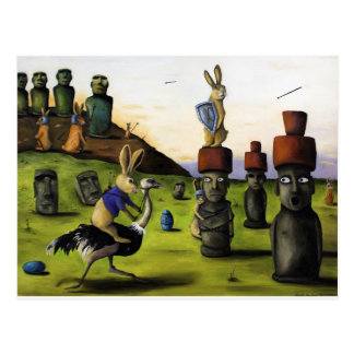 The Battle Over Easter Island Postcard