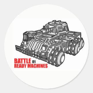 The Battle Ready Machines first design Classic Round Sticker