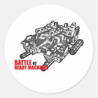 The Battle Ready Machines Second design Classic Round Sticker