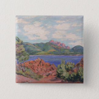 The Bay of Agay, c.1905 (oil on canvas) 15 Cm Square Badge