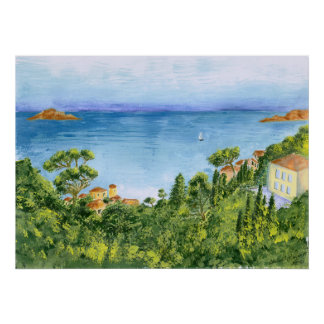 The Bay of Marseilles, France - framable print