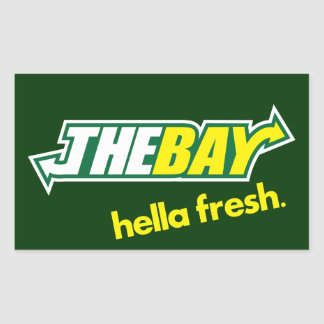 The Bay Way Rectangular Sticker