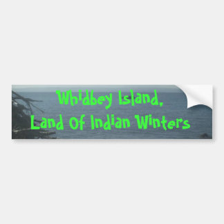 The Beach-06, Whidbey Island,Land Of Indian Win... Bumper Sticker