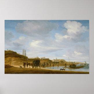 The Beach at Egmond-an-Zee Poster