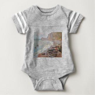 The Beach at Etretat - Claude Monet Baby Bodysuit