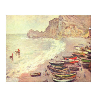 The Beach at Etretat - Claude Monet Canvas Print