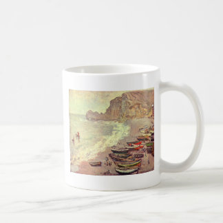 The Beach at Etretat - Claude Monet Coffee Mug