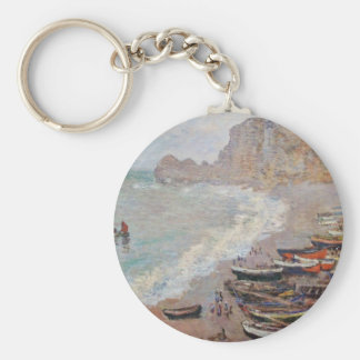 The Beach at Etretat - Claude Monet Key Ring