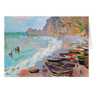 The Beach at Etretat Claude Monet Note Card