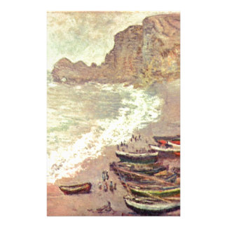 The Beach at Etretat - Claude Monet Stationery