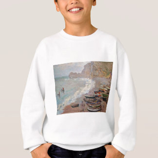 The Beach at Etretat - Claude Monet Sweatshirt