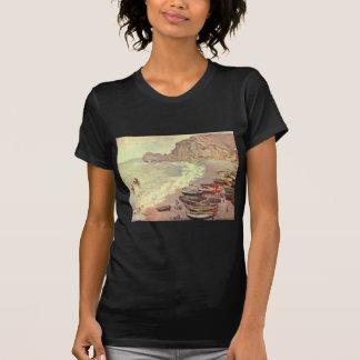The Beach at Etretat - Claude Monet T-Shirt