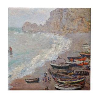 The Beach at Etretat - Claude Monet Tile