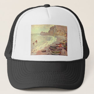 The Beach at Etretat - Claude Monet Trucker Hat