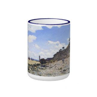 The Beach at Honfleur, 1865 Claude Monet Ringer Mug