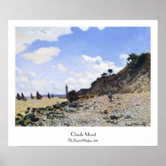 The Beach at Honfleur, 1865 Claude Monet Poster