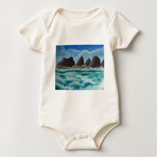 The Beach at Oceanside Baby Bodysuit