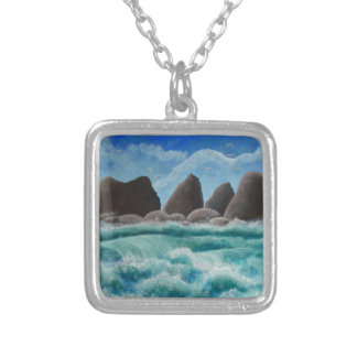 The Beach at Oceanside Silver Plated Necklace