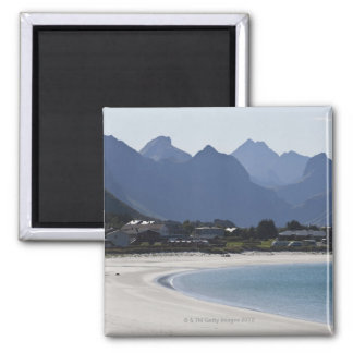 The beach at Ramberg is famous for its white 2 Magnet