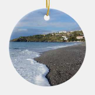 The Beach At Scalea Ceramic Ornament