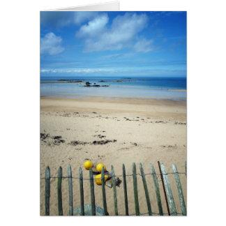 The beach, Cap Frehel, Brittany, France Card