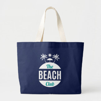 The Beach Club. Summer. Large Tote Bag