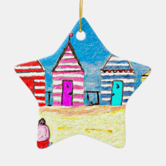The Beach Huts Ceramic Ornament