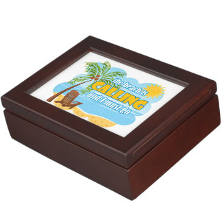 The Beach Is Calling And I Must Go Keepsake Box