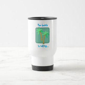The beach is calling travel mug
