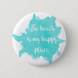 The Beach Is My Happy Place 6 Cm Round Badge