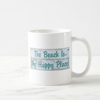 The Beach is My Happy Place Coffee Mug
