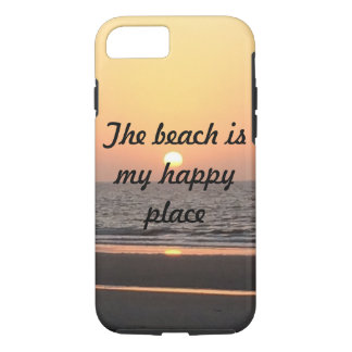 The beach is my happy place phone case
