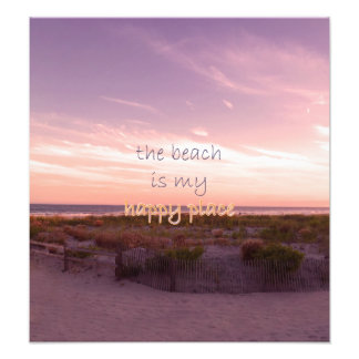 The Beach is My Happy Place Photo Print