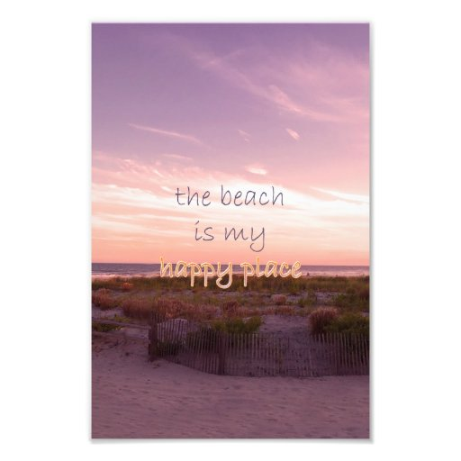 The Beach is My Happy Place Photo Art