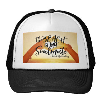 The Beach Is My Soulmate Sunset Heart Trucker Hat