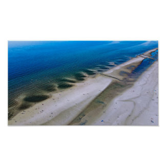 The Beach | poster print aerial photograph
