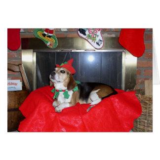 The Beagle Christmas Elf Card