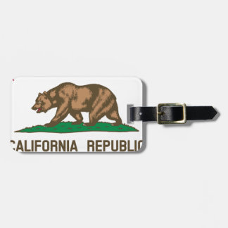 The Bear Flag - Flag of the State of California Luggage Tag