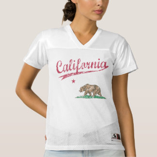 The Bear State Flag of California Women's Football Jersey