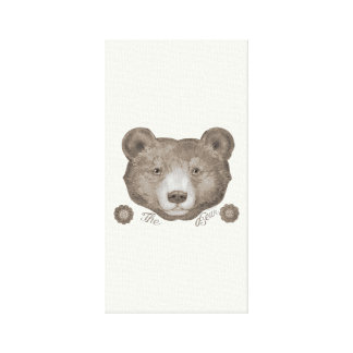 THE BEAR Wrapped Canvas Stretched Canvas Print