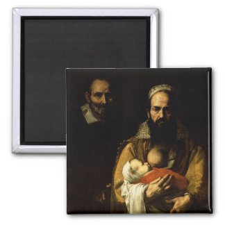 The Bearded Woman Breastfeeding, 1631 Square Magnet