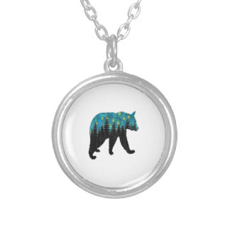 THE BEARS NIGHT SILVER PLATED NECKLACE