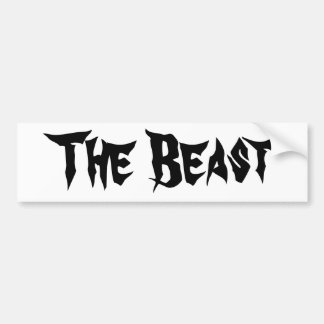 The Beast Bumper Sticker