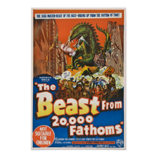 The Beast from 20,000 Fathoms Poster