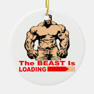 The Beast Is Loading Ceramic Ornament